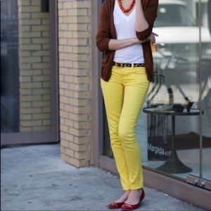 Loft Modern Straight Yellow Pants